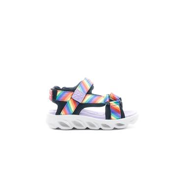 Skechers Hypno Splash - Rainbow Lights Bebek Siyah Sandalet