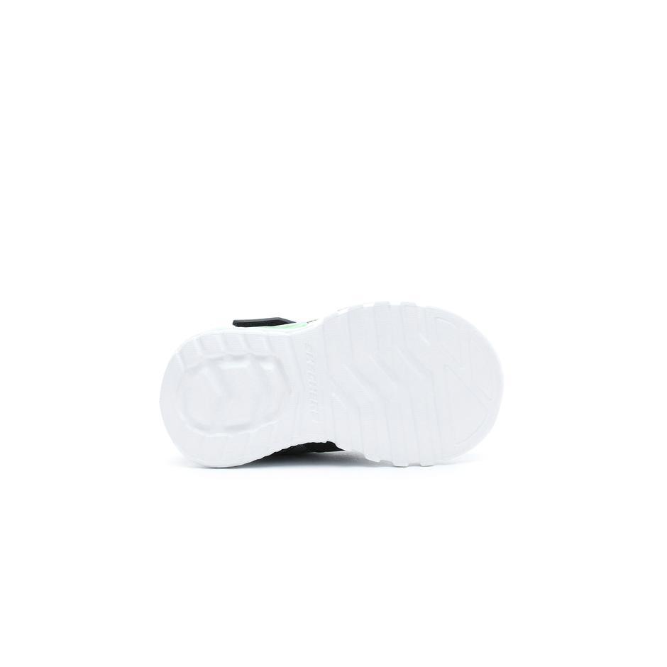 Skechers Flex Glow - Parrox Işıklı Bebek Siyah-Yeşil Spor Ayakkabı