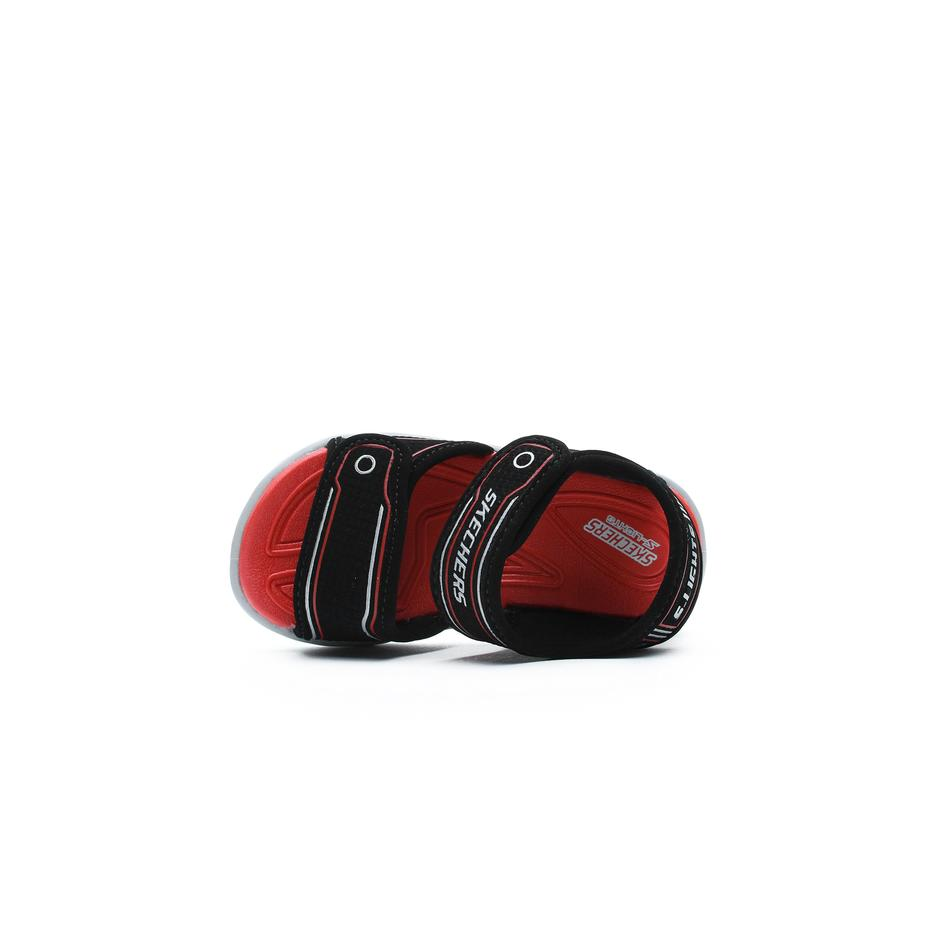 Skechers Hypno Splash Bebek Siyah-Kırmızı Sandalet