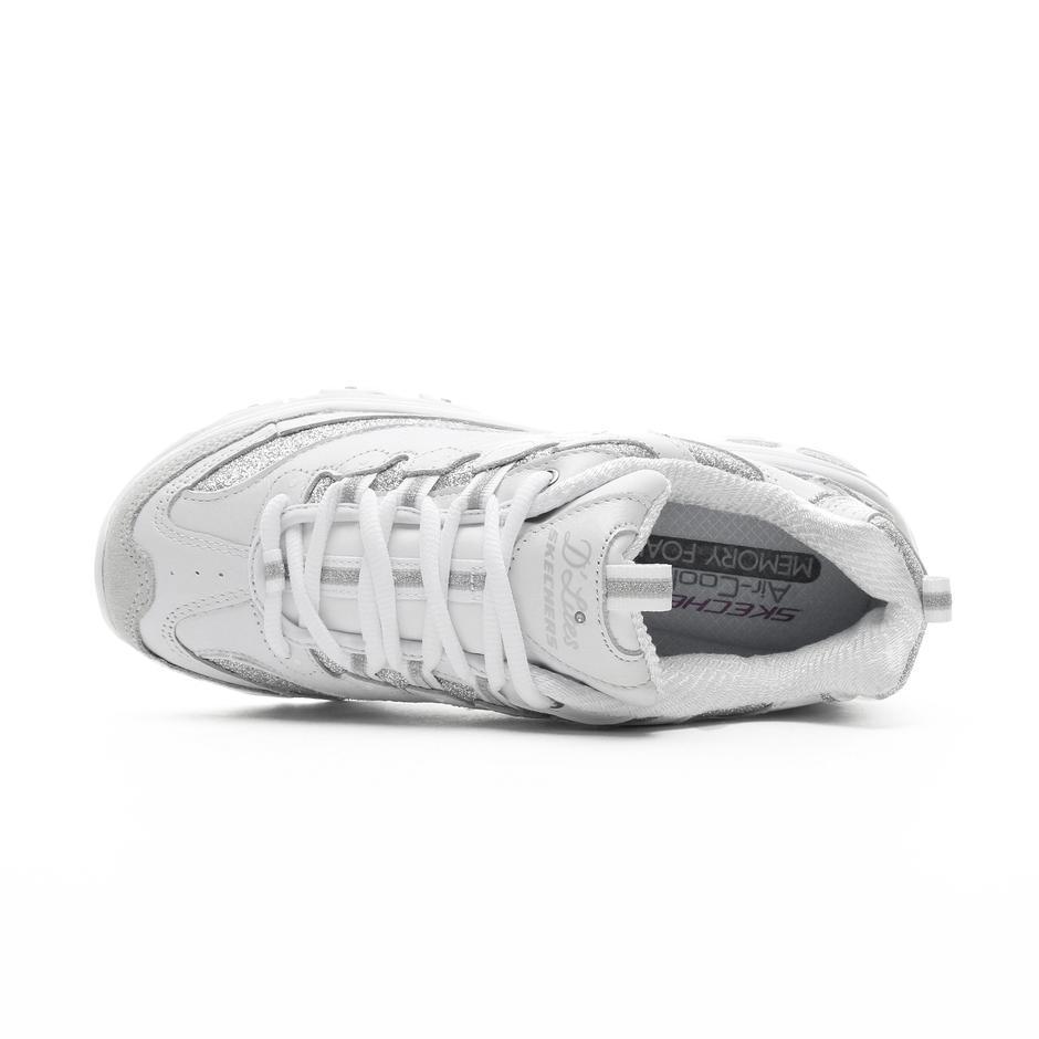 Skechers D'Lites-Glimmer Eve Kadın Beyaz-Gümüş Spor Ayakkabı