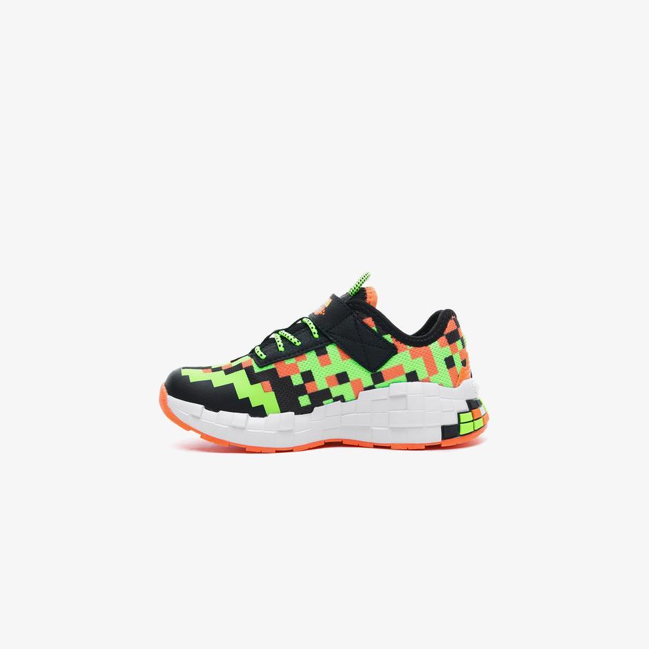 Skechers Mego Craft Çocuk Siyah-Yeşil Spor Ayakkabı
