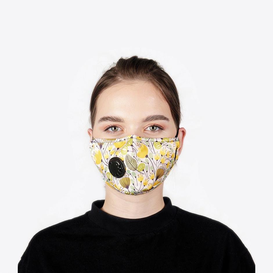 Chum Caltha Kadın Renkli PM 2.5 Aktif Filtreli Yıkanabilir Maske