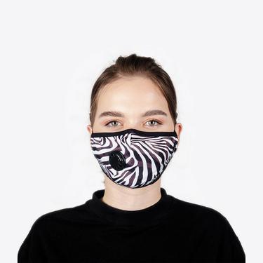 Chum Zebroad Kadın Siyah PM 2.5 Aktif Filtreli Yıkanabilir Maske