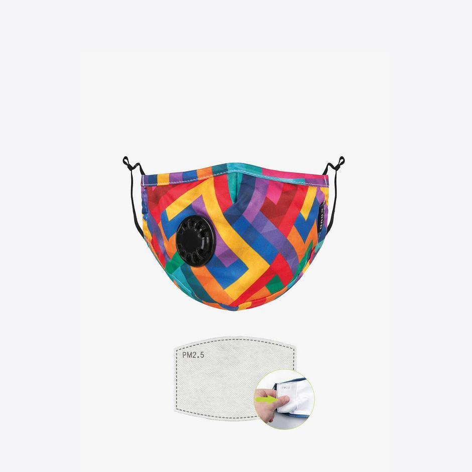 Chum Maze Kadın Renkli PM 2.5 Aktif Filtreli Yıkanabilir Maske