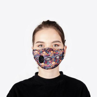 Chum Cool Mexican Kadın Renkli PM 2.5 Aktif Filtreli Yıkanabilir Maske