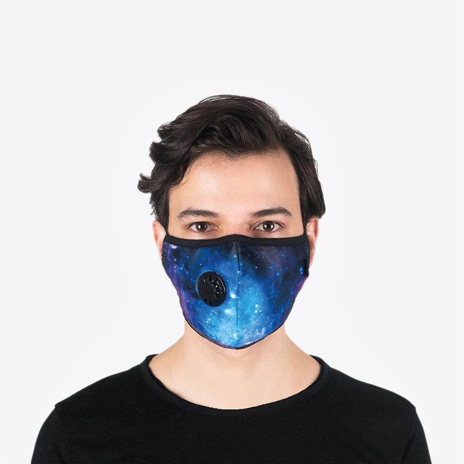 Chum Cosmos Erkek Mavi PM 2.5 Aktif Filtreli Yıkanabilir Maske