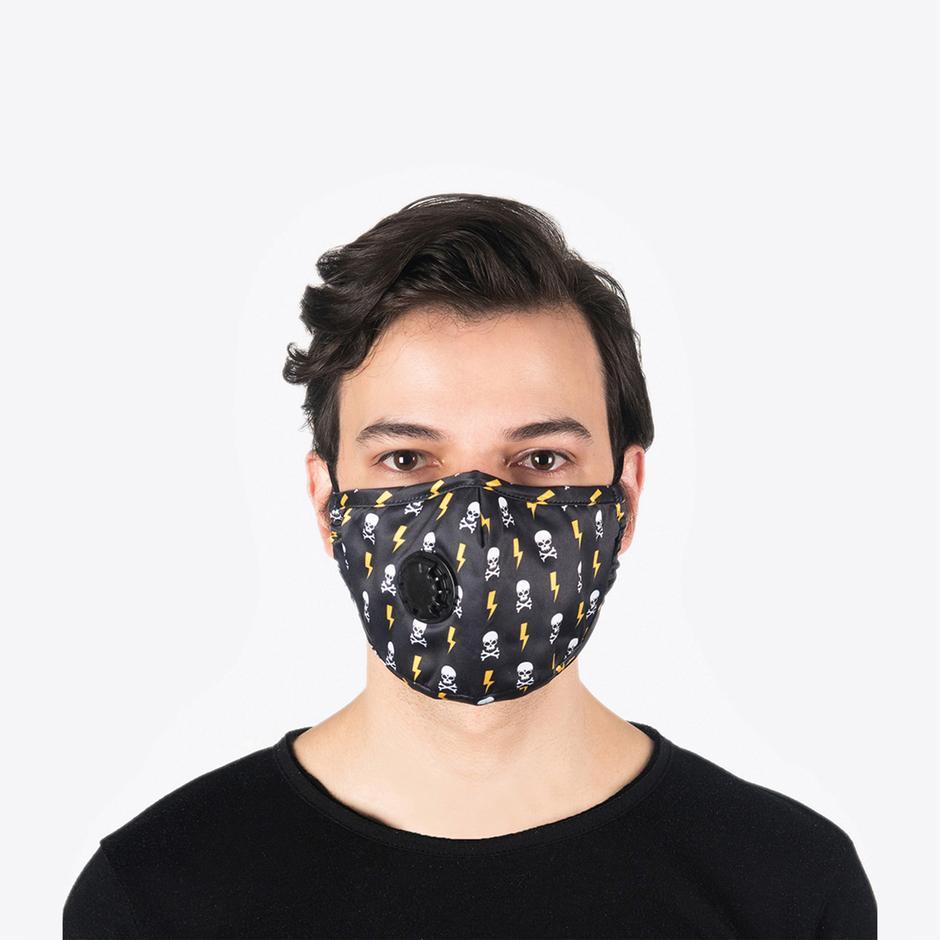 Chum Voltage Erkek Siyah PM 2.5 Aktif Filtreli Yıkanabilir Maske