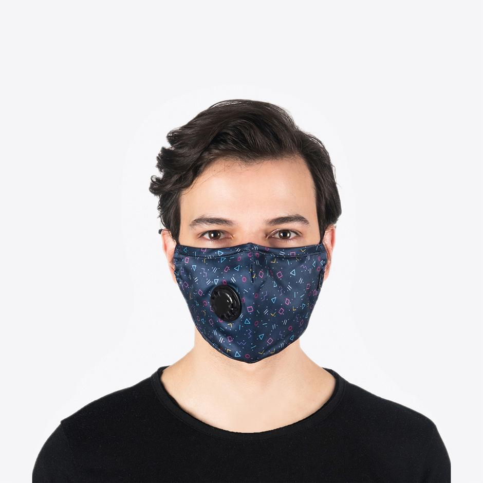 Chum GEO PUNK Erkek Lacivert PM 2.5 Aktif Filtreli Yıkanabilir Maske