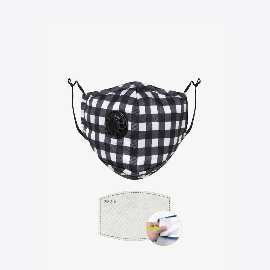 Chum The Suit Erkek Siyah PM 2.5 Aktif Filtreli Yıkanabilir Maske