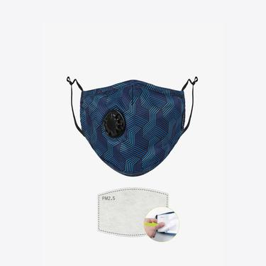 Chum Illusion Erkek Lacivert PM 2.5 Aktif Filtreli Yıkanabilir Maske