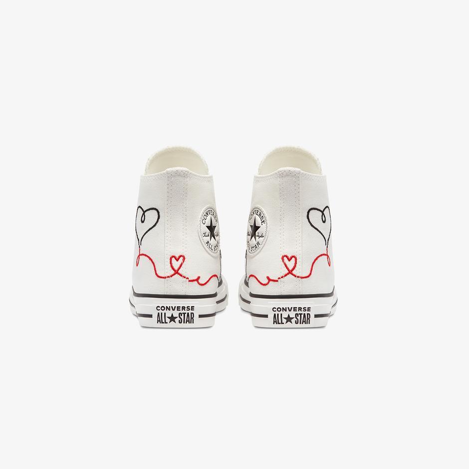 Converse Valentine's Day Chuck Taylor All Star Hi Kadın Beyaz Sneaker