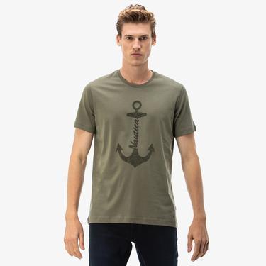 Nautica Erkek Yeşil Slim Fit T-Shirt