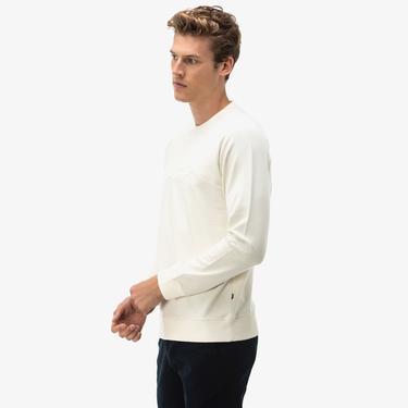Nautica Erkek Beyaz Sweatshirt
