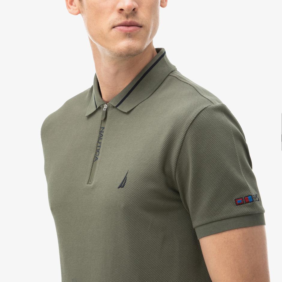 Nautica Erkek Yeşil Slim Fit Polo