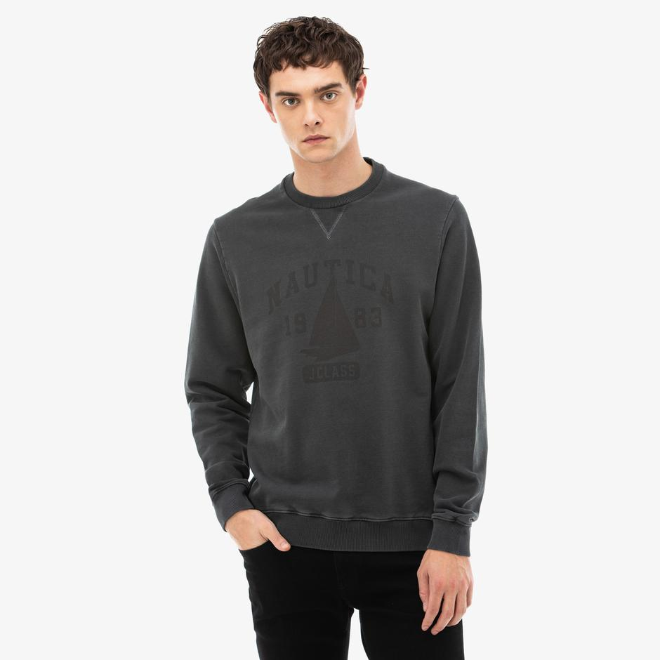 Nautica Erkek Gri Sweatshirt