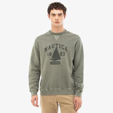 Nautica Erkek Yeşil Sweatshirt