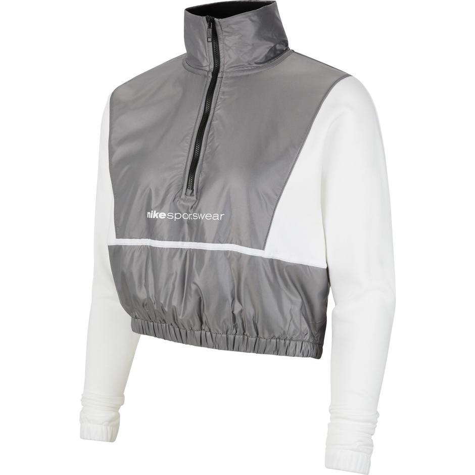 Nike Sportswear QZ Archive Rmx Kadın Beyaz Sweatshirt