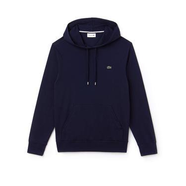 Lacoste Erkek Regular Fit Lacivert Kapüşonlu Sweatshirt