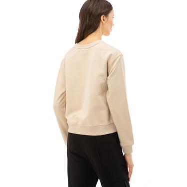 Skechers LW Fleece Kadın Bej Sweatshirt