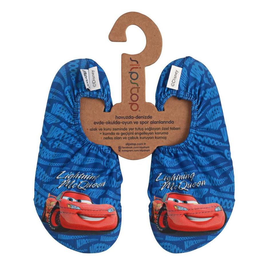 Slipstop Crash Disney Cars Çocuk Renkli Havuz Ayakkabısı