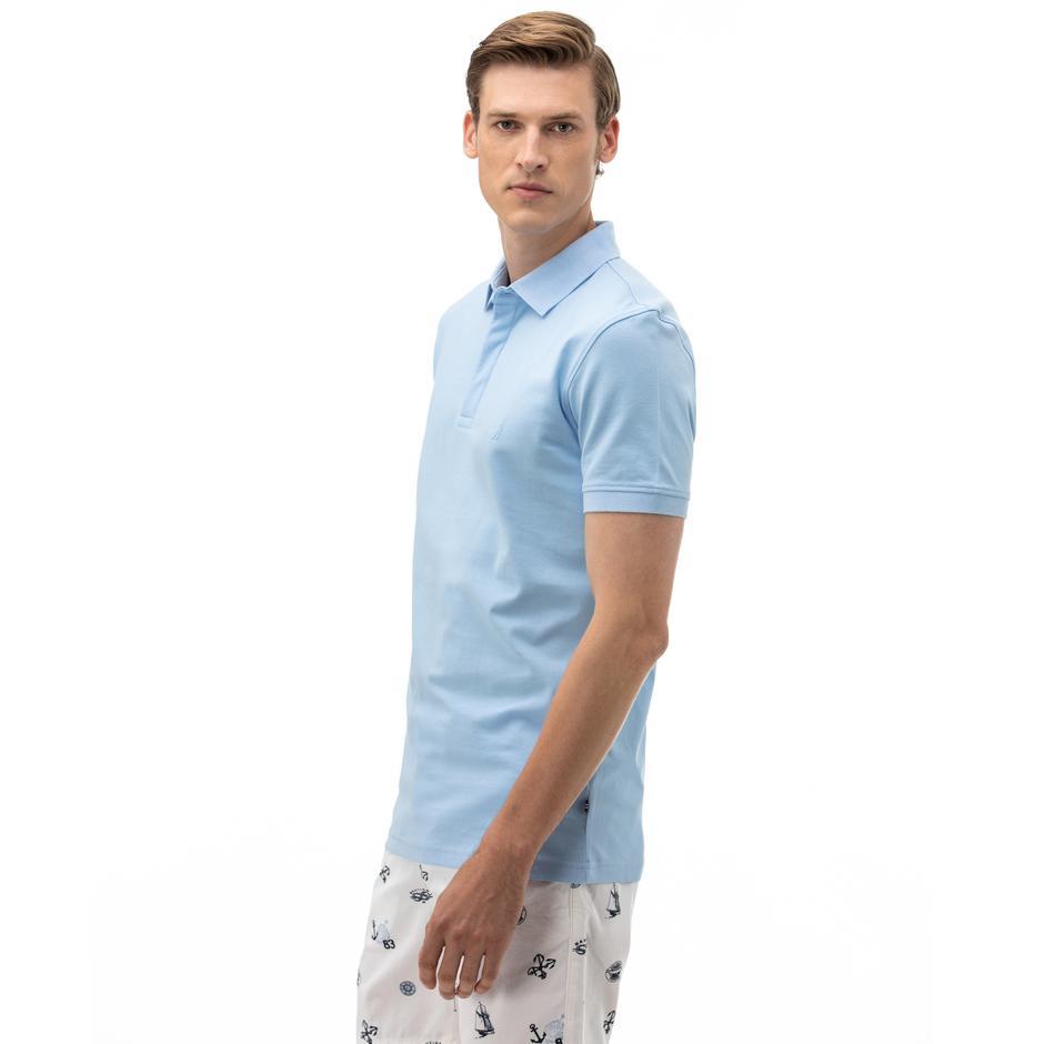 NAUTICA Erkek Slim Fit Mavi Polo