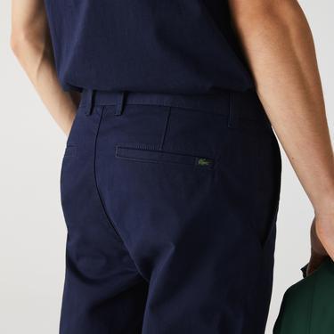 Lacoste Erkek Slim Fit Streç Gabardin Lacivert Chino Pantolon
