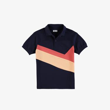 Lacoste Çocuk Renk Bloklu Lacivert Polo