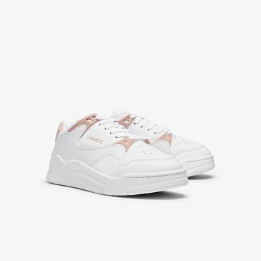 Lacoste Court Slam 0721 1 Sfa Kadın Beyaz - Açık Pembe Sneaker