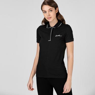 Lacoste Kadın Regular Fit Siyah Polo