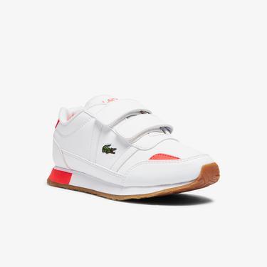 Lacoste Partner 0721 1 Suc Çocuk Beyaz - Kırmızı Sneaker