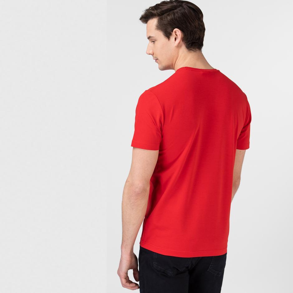 Lacoste Erkek Bisiklet Yaka Kırmızı T-Shirt