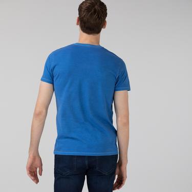 Lacoste Erkek Slim Fit V Yaka Mavi T-Shirt