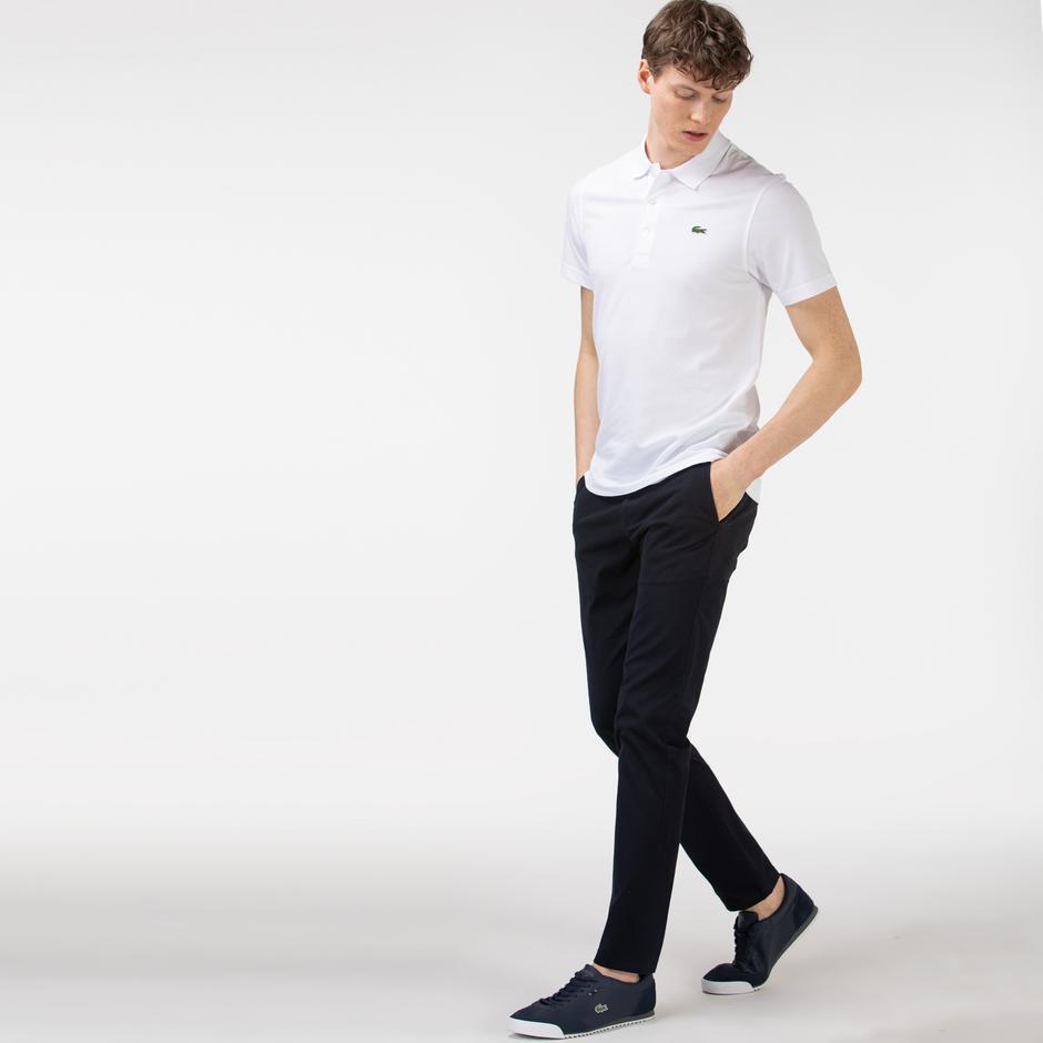 Lacoste Erkek Slim Fit Desenli Lacivert Pantolon