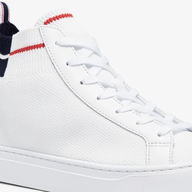 Lacoste La Piquee Mid 0721 1 Cma Erkek Beyaz - Lacivert - Kırmızı Mid Ayakkabı