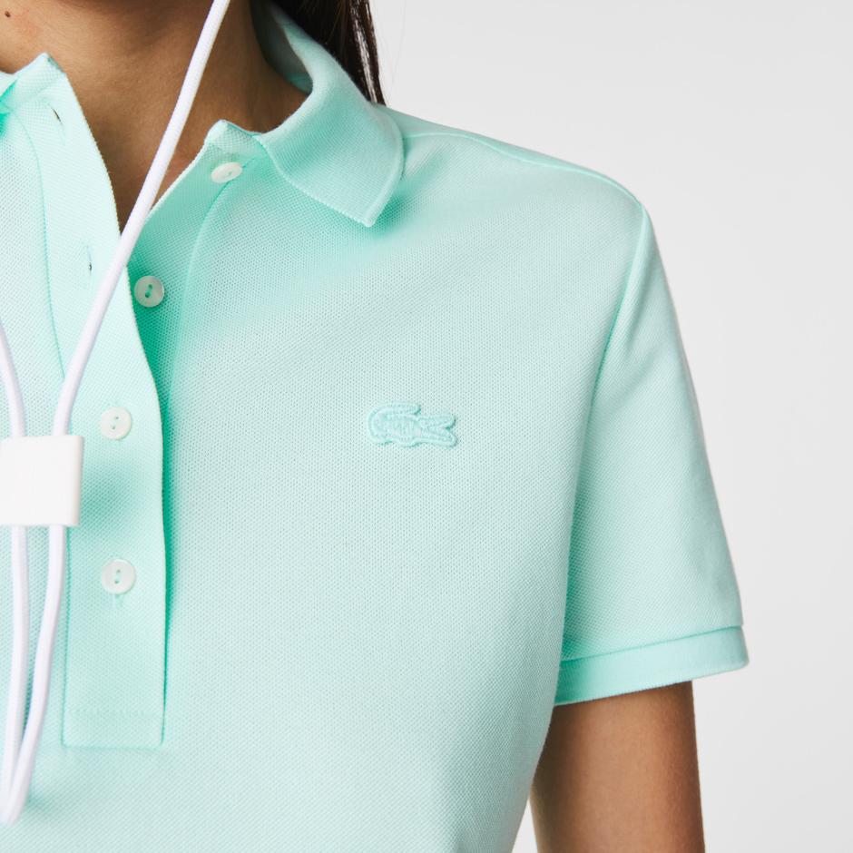 Lacoste Kadın Slim Fit Açık Mavi Polo