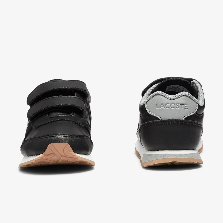 Lacoste Partner 0721 1 Sui Çocuk Siyah - Gri Sneaker
