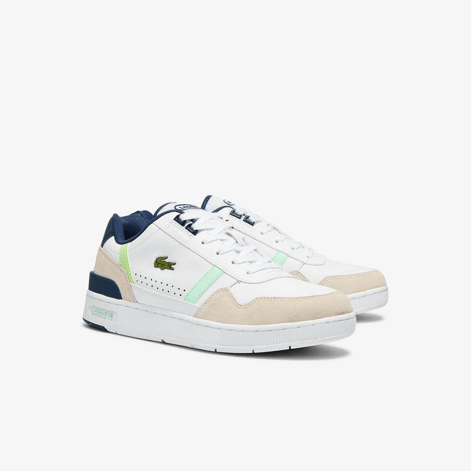 Lacoste T-Clip 0721 3 Erkek Beyaz - Lacivert Sneaker