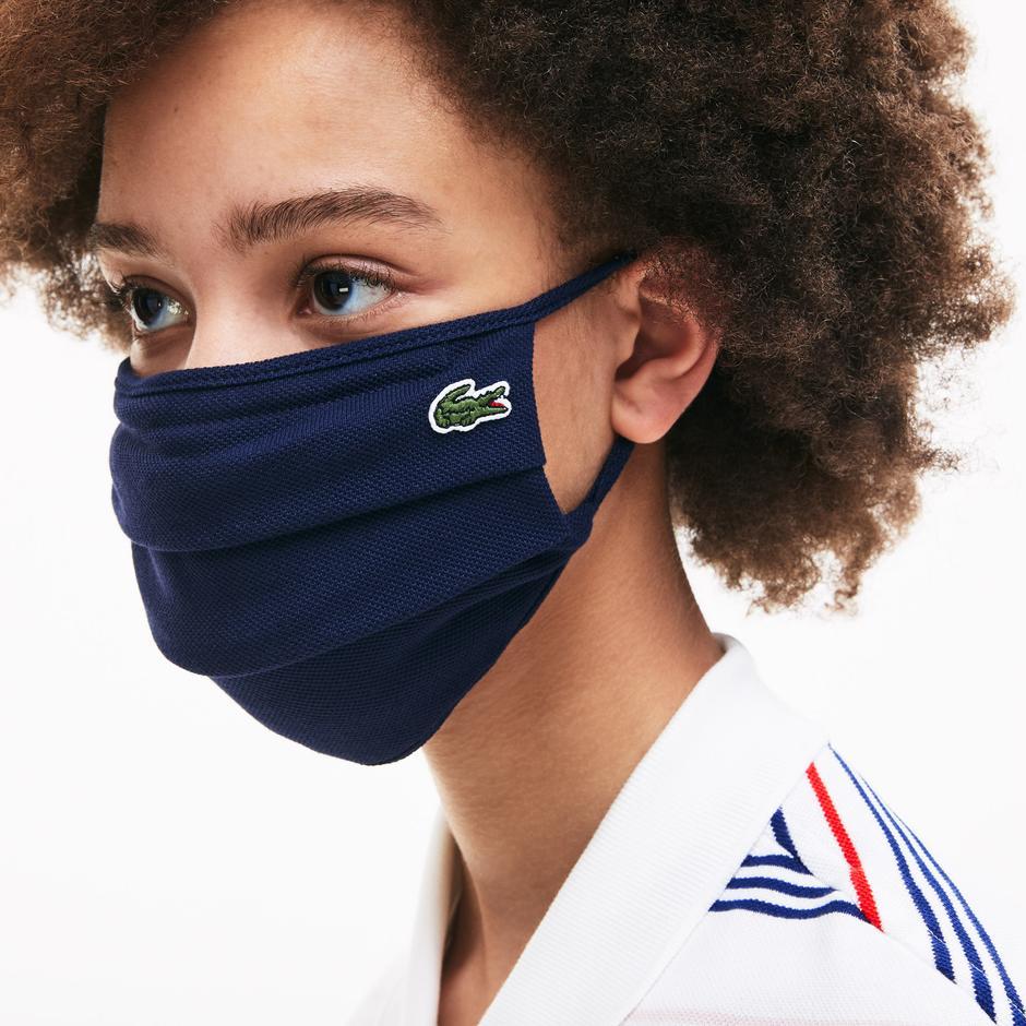 Lacoste Pamuklu Yıkanabilir Lacivert L1212 Maske