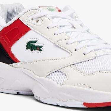 Lacoste Storm 96 Lo 0721 1 Sma Erkek Beyaz - Kırmızı Sneaker