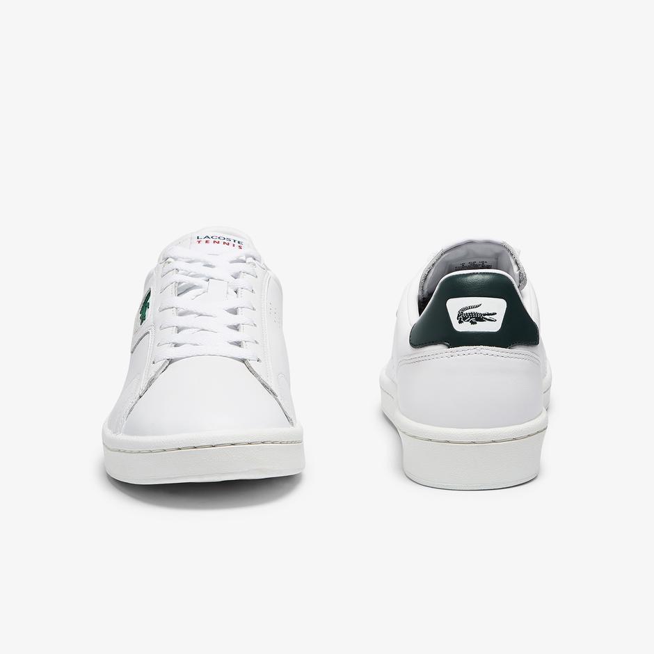 Lacoste Masters Classic 07211 Sma Erkek Beyaz - Koyu Yeşil Sneaker