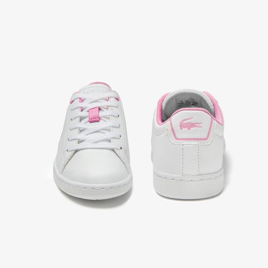 Lacoste Carnaby Evo 0120 2 Suc Çocuk Beyaz - Pembe Sneaker