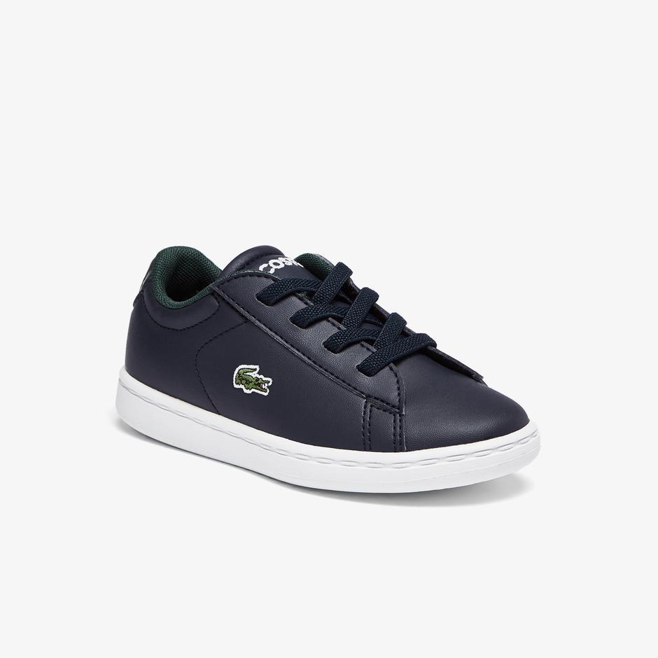 Lacoste Carnaby Evo 0721 1 Sui Çocuk Lacivert Sneaker