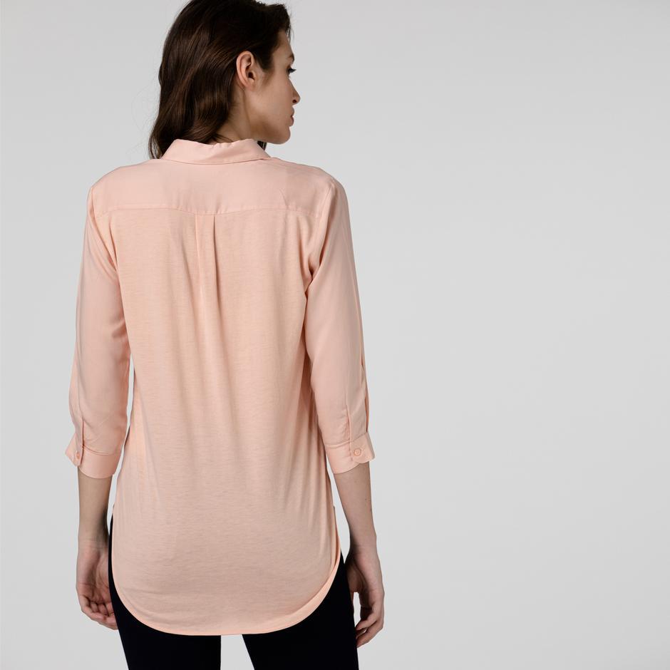 Lacoste Kadın Pembe Gömlek