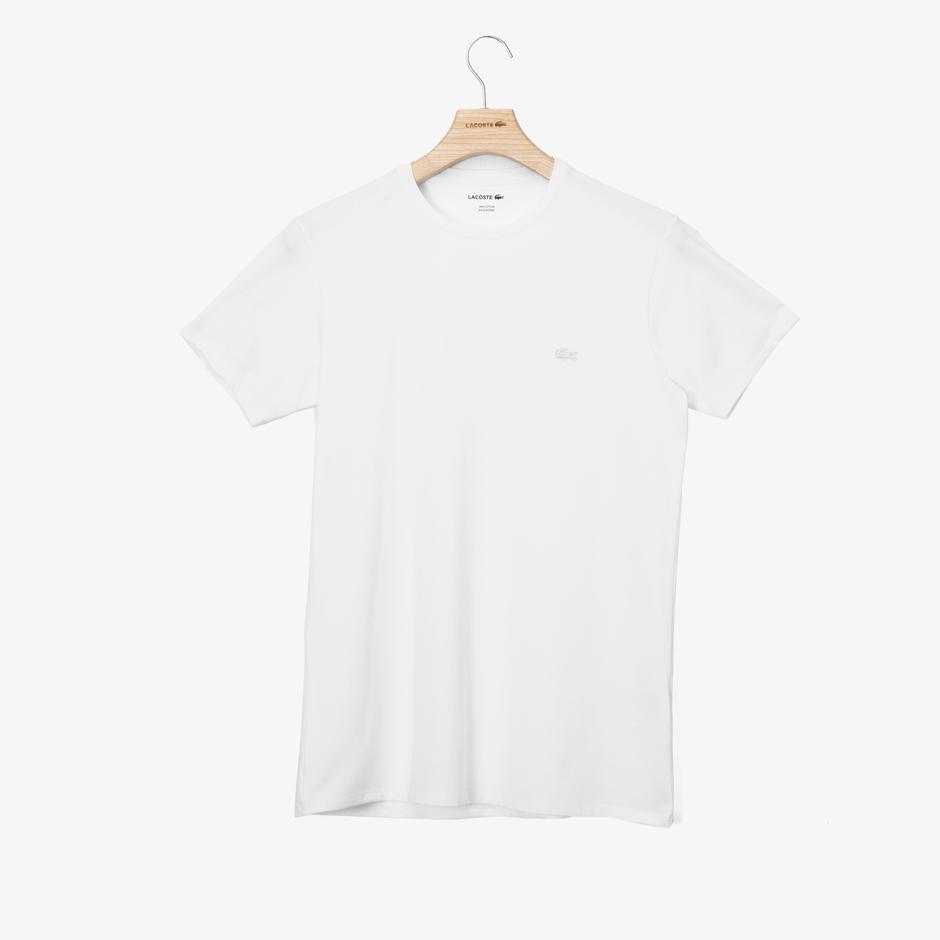 Lacoste Erkek Slim Fit Bisiklet Yaka Beyaz T-Shirt