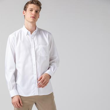 Lacoste Erkek Regular Fit Beyaz Gömlek