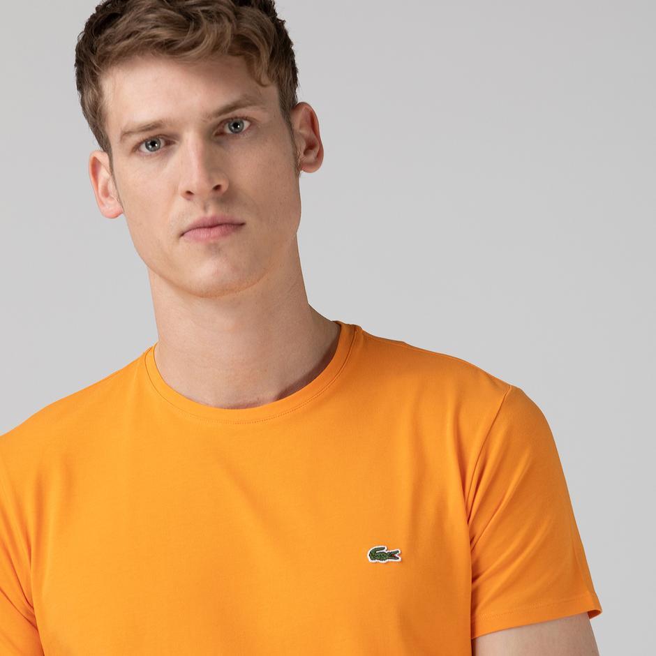 Lacoste Erkek Slim Fit Bisiklet Yaka Turuncu T-Shirt