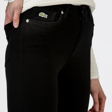 Lacoste Kadın Skinny Fit Siyah Denim Pantolon