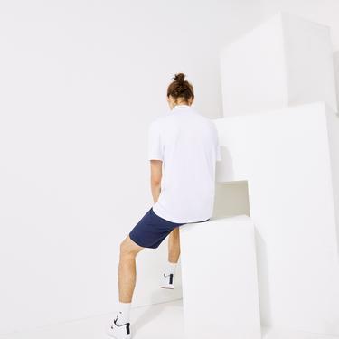 Lacoste Sport Erkek Baskılı Beyaz Polo