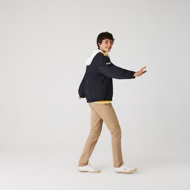 Lacoste Erkek Slim Fit Streç Gabardin Bej Chino Pantolon