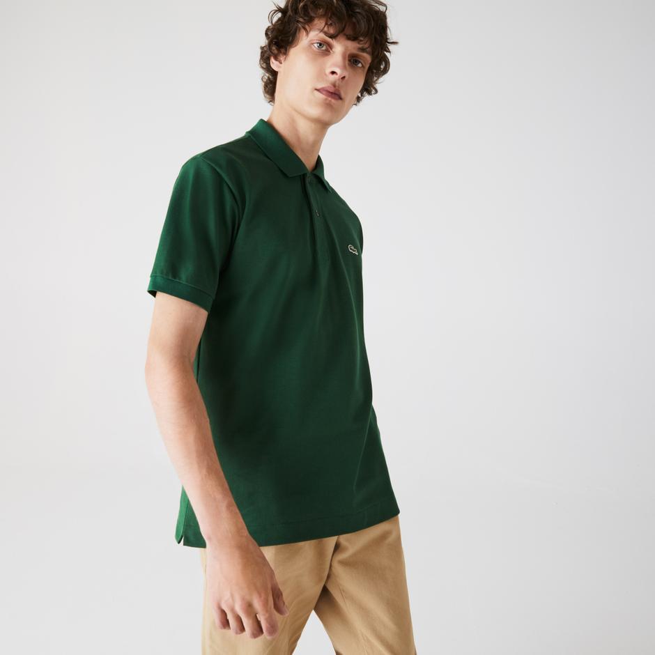 Lacoste Erkek Klasik Fit L1212 Yeşil Polo